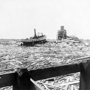 Floating wreckage from the Galveston hurrican